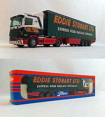1998 Tekno Eddie Stobart Scania 144L Curtainside British Collection 1:50 Nr MIB