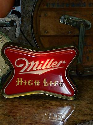 vintage 50's MILLER HIGH LIFE beer BAR LIGHT advertising sign wall or counter