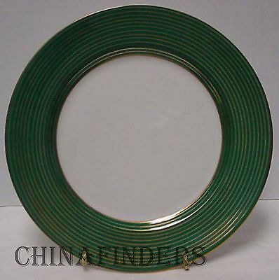 """FITZ & FLOYD china RONDELLE TEAL GREEN pattern Salad Plate @ 7 1/2"""""""
