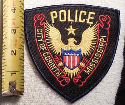 CORINTH MISSISSIPPI POLICE PATCH (HIGHWAY PATROL, SHERIFF, EMS, STATE)
