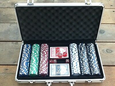 300 pc poker game set, casino size chips
