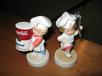 Pair of Campbell's Soup Kids figurines