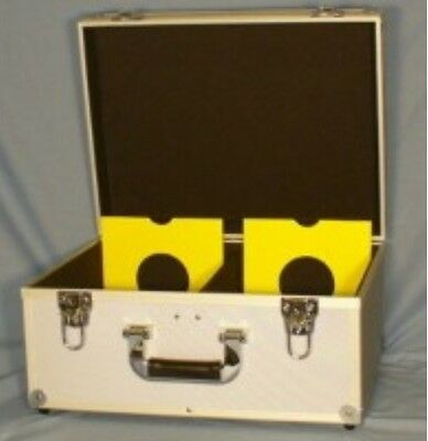 "Dj 7"" Record Box / Flight Case Holds 200 Silver +24Hdel"