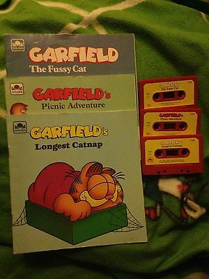 Vintage Garfield - Books And Cassettes Rare Set