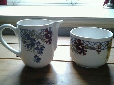 Beautiful....MILK JUG & SUGAR BOWL....EXCELLENT CONDITION....RINGTONS. (2).
