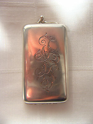ANTIQUE SOLID SILVER 84 GILDED RUSSIAN IMPERIAL VESTA CIGARETTE CASE AK!!!