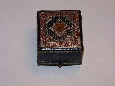 Antique Stamped Leather Ring Box Ahlers Co. San Francisco