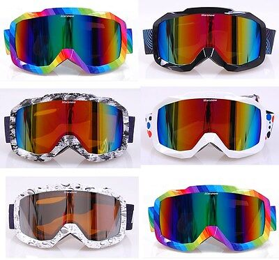 Ski Snowboard Snowmobile Motorcycle Off road Motocross Double Lens Snow Goggles