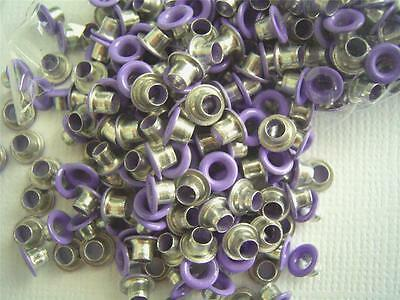 "1/8"" eyelets PURPLE pk of 50 round scrapbooking craft eyelet card making"