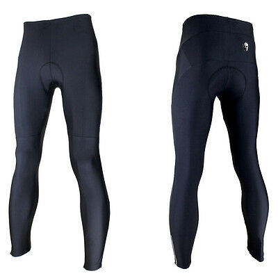 Mens Cycling Trousers Black Winter Sports Tights Legging Cool Max Padded Pants