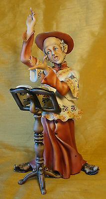 Vtg Hand Painted Italian CAPODIMONTE Pottery Figurine Signed RORI The Conductor