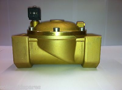 "CEME Replacement Solenoid Valves Brass CEME 2"" BSP  Normally Closed N/C 8619"