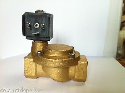"CEME Replacement Solenoid Valve Brass CEME 3/4"" BSP  Normally Closed N/C 8615"