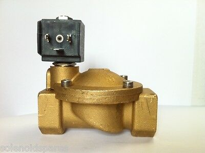 "CEME Replacement Solenoid Valves Brass CEME 1"" BSP  Normally Closed N/C UK 8616"