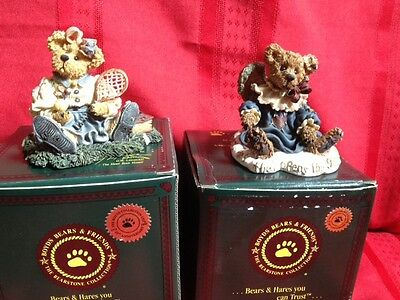 """Lot of 2 - Boyds Bear GWAIN """"LOVE IS THE MASTER KEY"""" & CHRISSIE GAME SET MATCH"""
