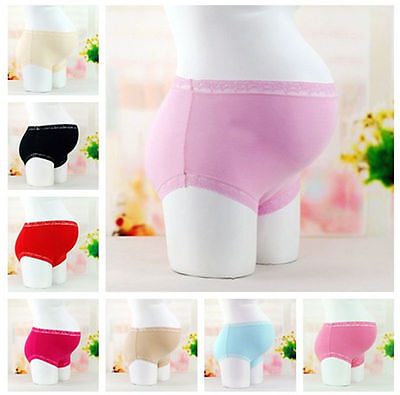 Pregnancy/  Maternity  Panties/Briefs High Rise Waist Lace Cotton Bump support
