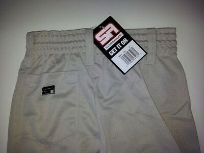 Youth Boys/Girls BASEBALL PANTS Silver Gray - ASSORTED SIZES - NEW