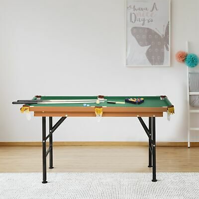Soozier 4.5' Folding Mini Billiards Pool Table Set Indoor Kid Activity Home Game