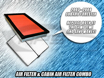 AIR FILTER CABIN FILTER COMBO FOR 2003 2004 2005 2006 2007 2008 SUBARU FORESTER