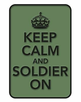 """Military Morale 3D Rubber Patch """"Keep Calm And Soldier On"""" - Velcro - Airsoft"""