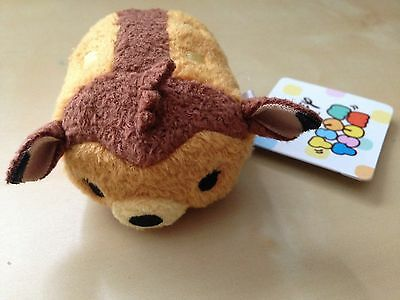 "disney store japan tsum tsum mini 3 1/2"" bambi plush rare new with tag"