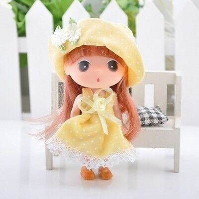 Yellow Korea Ddung Doll Cell Phone Backpack Ornaments Keychain Baby Gift 12CM