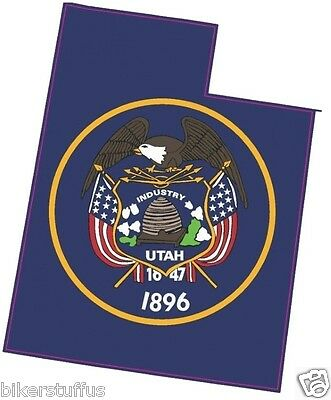 Die Cut Utah Shape State Flag Sticker Laptop Sticker Toolbox Sticker Window