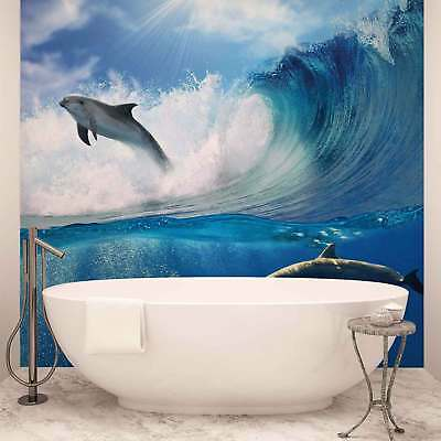 WALL MURAL PHOTO WALLPAPER PICTURE (188P) Dolphins Fish Boys Girls Bedroom