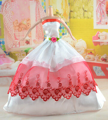 hot New Handmade Party Clothes Fashion Dress for Noble Doll *y21