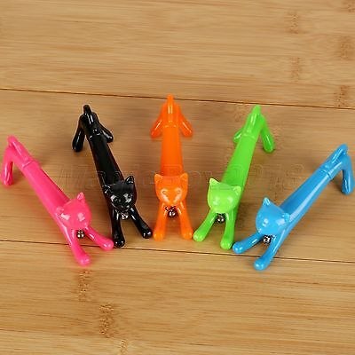 Novelty Cat Style Blue Ink Ball Point Pen Kid Toy Student Gift Stationery 0.5mm