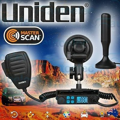 Uniden Uh8020S + Antenna Portable Plug & Play 80 Channel Uhf Cb Radio 5W Mobile