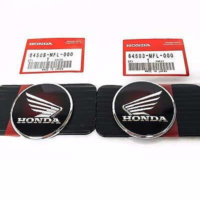 New Tank Badges Emblems Honda Chrome Wing Cafe Bobber Chopper CBR1000RR E0186 E0