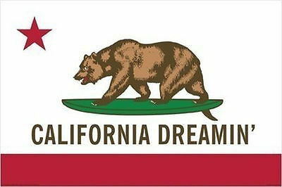 CALIFORNIA DREAMIN POSTER - 24x36 SHRINK WRAPPED - STATE CA BEAR 241174