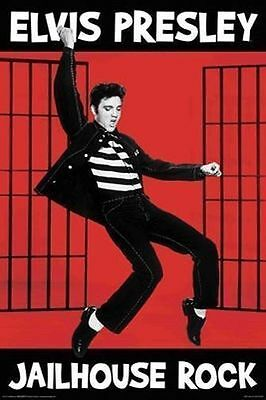 ELVIS PRESLEY - JAILHOUSE ROCK POSTER - 24x36 - THE KING MUSIC 241117