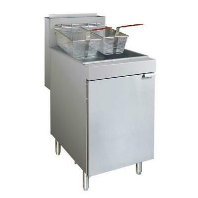 Gas Deep Fryer, Large Single Vat 37L, Superfast Commercial Kitchen Equipment