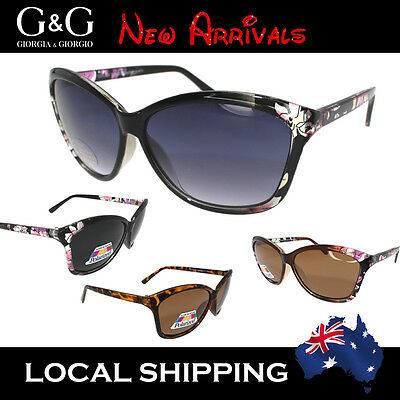 Ladies Cat Eye Sunglasses Floral Print Polarised Lens available 2015 NEW STYLE