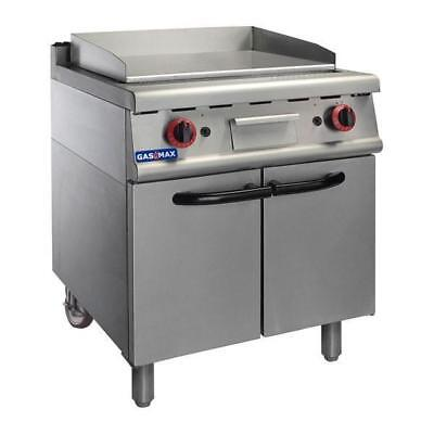 Gas Griddle / Hotplate on Cabinet 630x500mm, Commercial Restaurant Equipment NEW