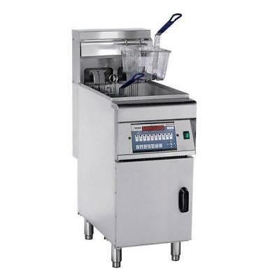 Deep Fryer Single Vat 28L, Computerised with Cold Zone, Commercial Equipment NEW
