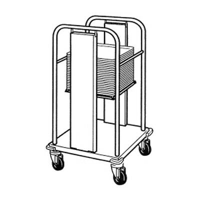 """Piper Products S/S Self-Leveling Mobile Tray Dispenser 18""""Lx21""""Wx36""""H PT/1418MO"""