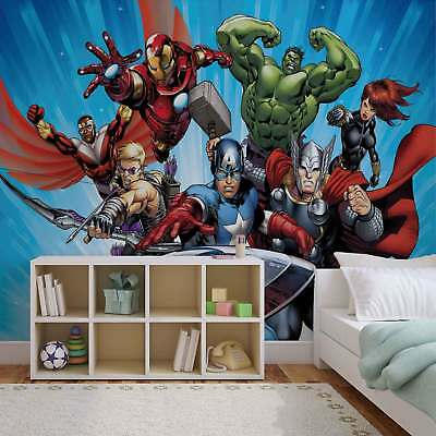 WALL MURAL PHOTO WALLPAPER PICTURE (963PP) Disney Avengers Boys Bedroom
