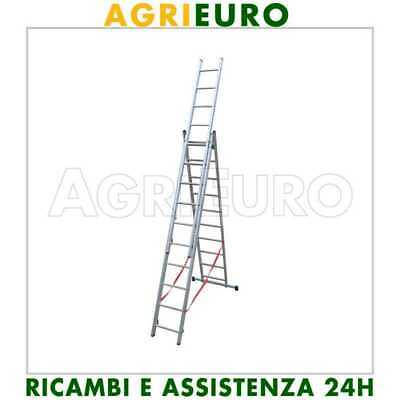 Scala in alluminio telescopica 622cm Facal Stilo 3 rampe a10 gradini allungabile