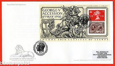 2010 London Festival of Stamps Overprint Minisheet First Day Cover.