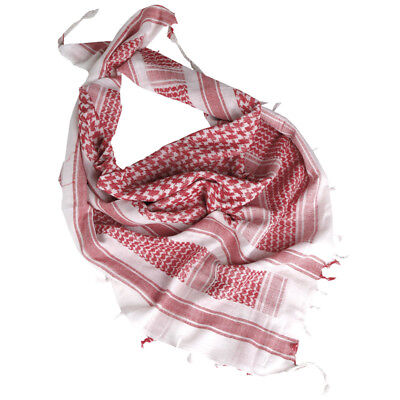 Tactical Shemagh Army Scarf Military Shermag Head Wrap Patrol Keffiyeh White Red