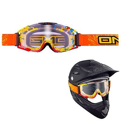 ONeal Crossbrille Orange Gelb Brille MX Motocross Mountainbike Downhill Komfort