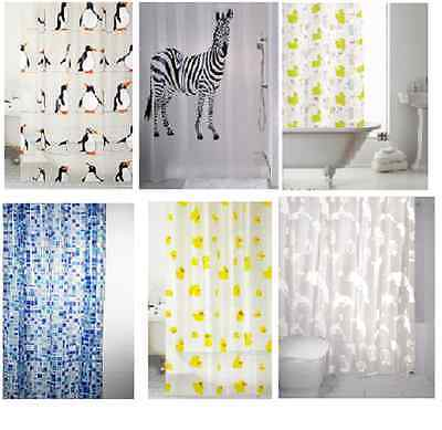 Shower Curtains Curtain Design Peva Standard Size 180 X 180 Cm With Rings Hooks