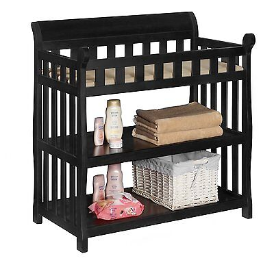NEW & SEALED! Delta Children Eclipse Changing Table With Safety Strap (Black)