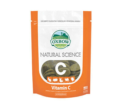 Oxbow Natural Science Vitamin C Supplement Hay tabs Rabbit Chinchilla Guinea Pig