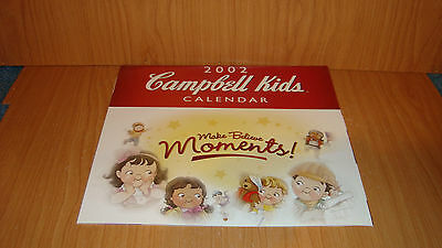 Campbell Kids Calendar - 2002 with seperate collectible catalog - all mint !!