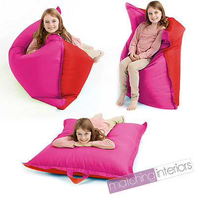 Red Pink Bean Bag Slab Large Children's Kids Beanbag Cushion Splashproof Seat