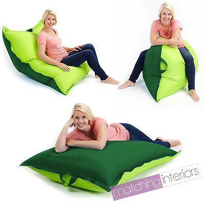 Lime Green Bean Bag Slab XL Large Beanbag Floor Cushion Adult Indoor Outdoor